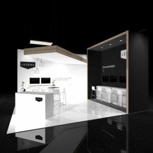 20X20 Exhibit Booth Rentals