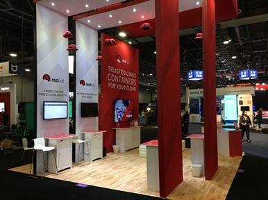 20x20 Trade Show Rental Exhibit Design at AWS re-Invent