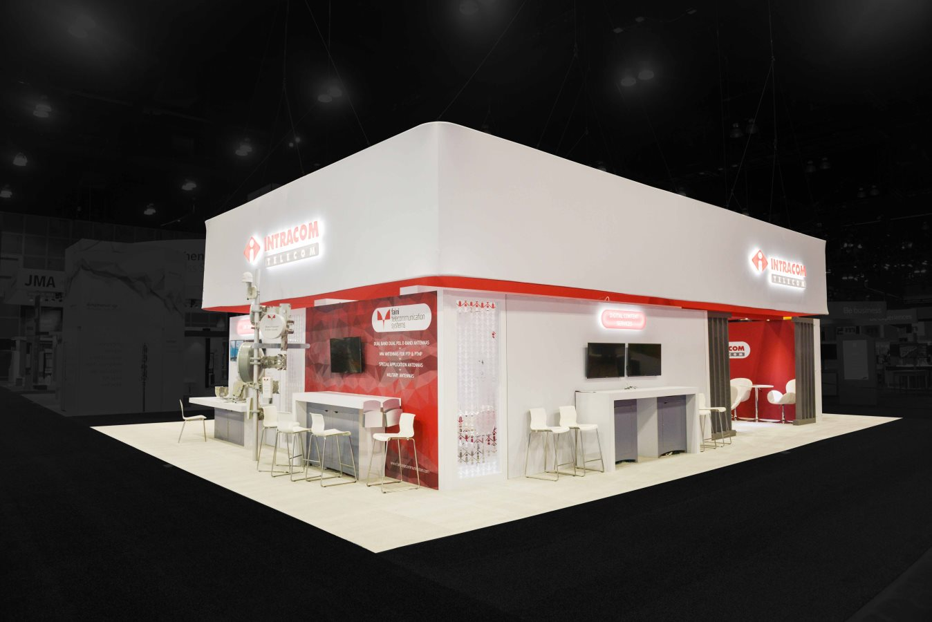 40x50 Cystom Rental Booth at MWC, Los Angeles