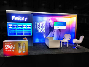 Custom Trade show booth design at MBA, Washington D.C