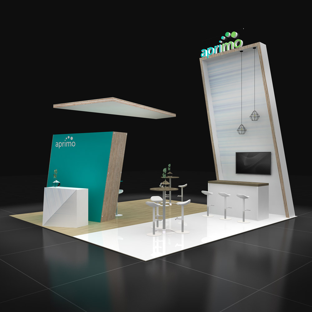 Innovative 20x20 trade show rental booth